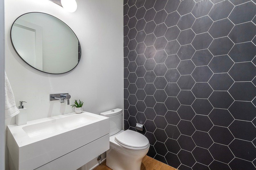 Real Estate Photography - 3647 Leavitt, Chicago, IL, 60618 - Powder Room