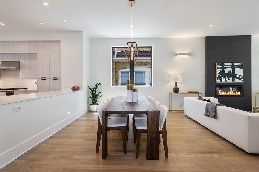 Real Estate Photography - 3647 Leavitt, Chicago, IL, 60618 - Dining Room