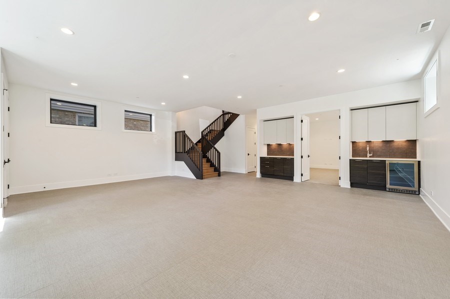 Real Estate Photography - 3647 Leavitt, Chicago, IL, 60618 - Lower Level Rec Room