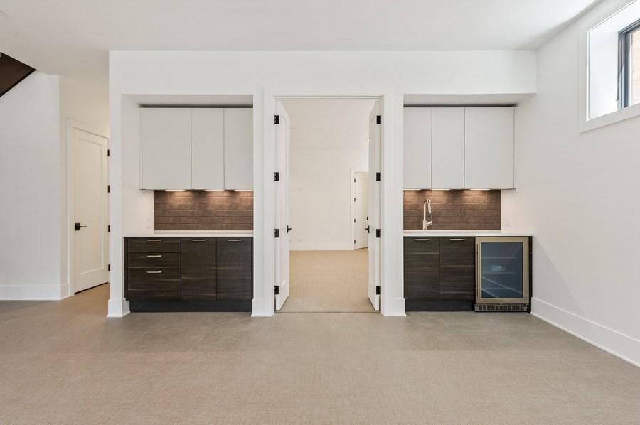 Real Estate Photography - 3647 Leavitt, Chicago, IL, 60618 - Lower Level Rec Room Kitchenette