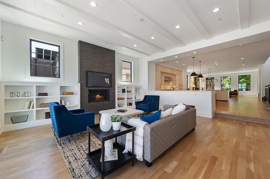 Real Estate Photography - 3647 Leavitt, Chicago, IL, 60618 - Family Room