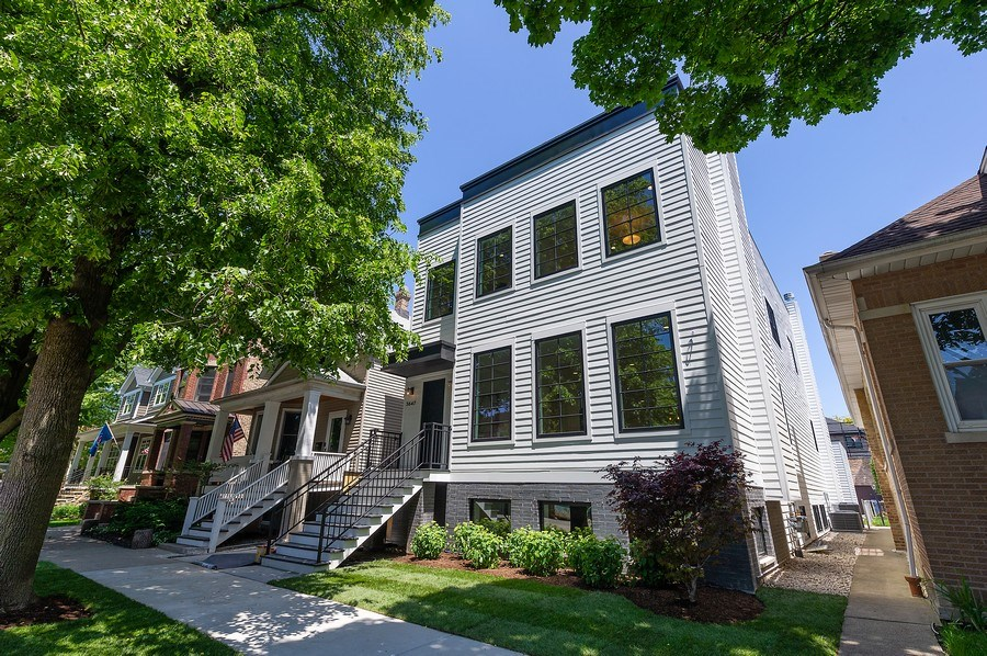 Real Estate Photography - 3647 Leavitt, Chicago, IL, 60618 - Front Elevation