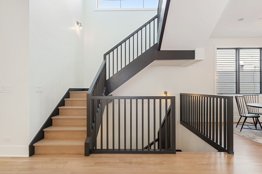 Real Estate Photography - 3647 Leavitt, Chicago, IL, 60618 - Staircase
