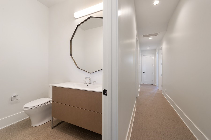 Real Estate Photography - 3647 Leavitt, Chicago, IL, 60618 - Lower Level Powder Room