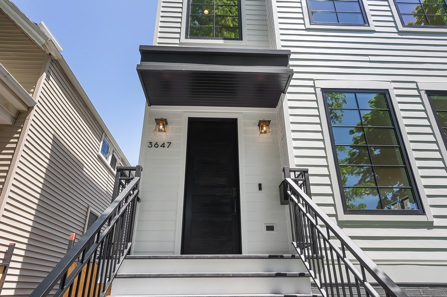 Real Estate Photography - 3647 Leavitt, Chicago, IL, 60618 - Front Entry