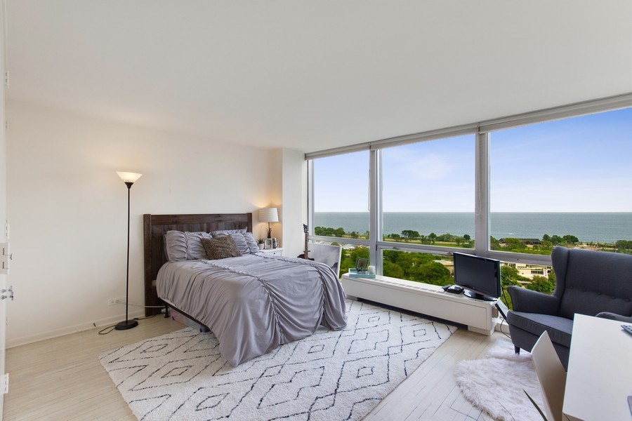 Real Estate Photography - 2400 N Lakeview, Unit 2602, Chicago, IL, 60614 - Master Bedroom