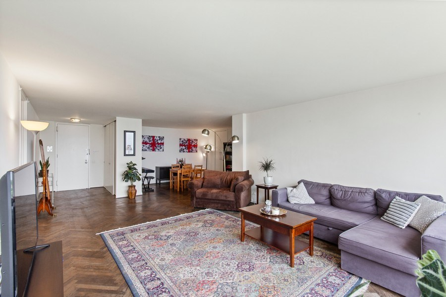 Real Estate Photography - 2400 N Lakeview, Unit 2602, Chicago, IL, 60614 - Living Room / Dining Room