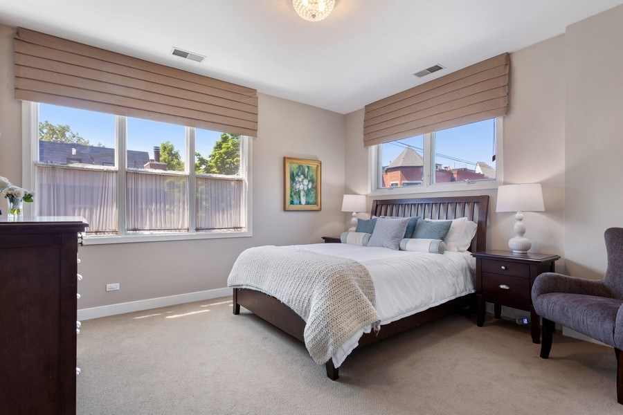 Real Estate Photography - 2515 N Seminary, A, Chicago, IL, 60614 - Master Suite