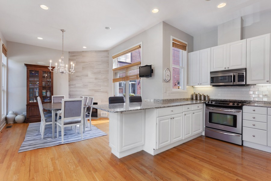 Real Estate Photography - 2515 N Seminary, A, Chicago, IL, 60614 - Kitchen / Dining Room View