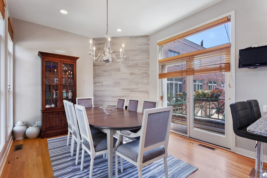 Real Estate Photography - 2515 N Seminary, A, Chicago, IL, 60614 - Dining Room (Balcony View)