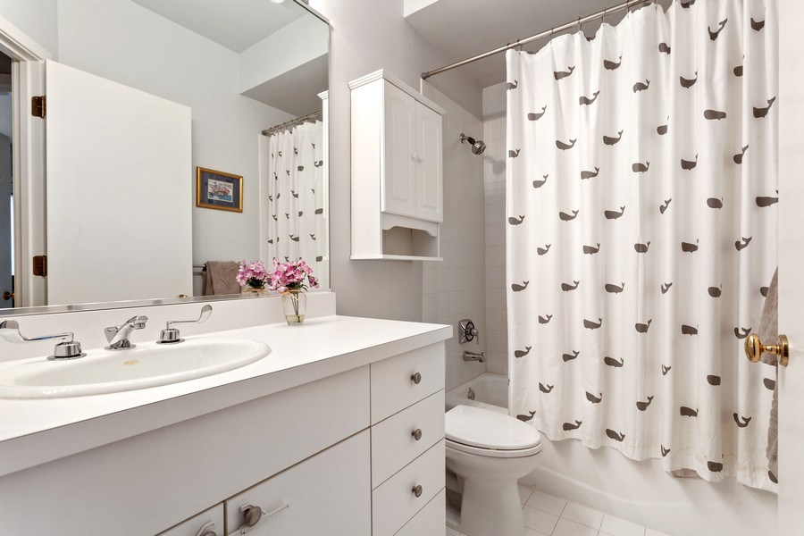 Real Estate Photography - 2515 N Seminary, A, Chicago, IL, 60614 - 2nd Full Bathroom