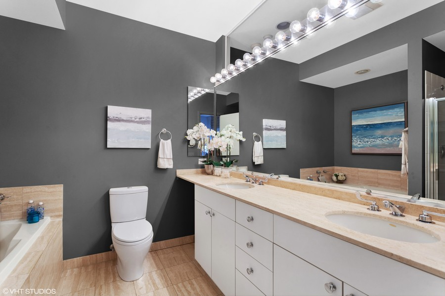 Real Estate Photography - 2515 N Seminary, A, Chicago, IL, 60614 - Master Bathroom (Separate Tub & Shower)