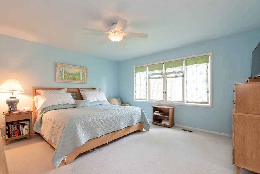 Real Estate Photography - 1440 Estate Ln, Glenview, IL, 60025 - Master Bedroom