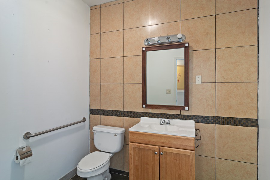 Real Estate Photography - 3110 W Irving Park Rd, Chicago, IL, 60618 - Half Bath