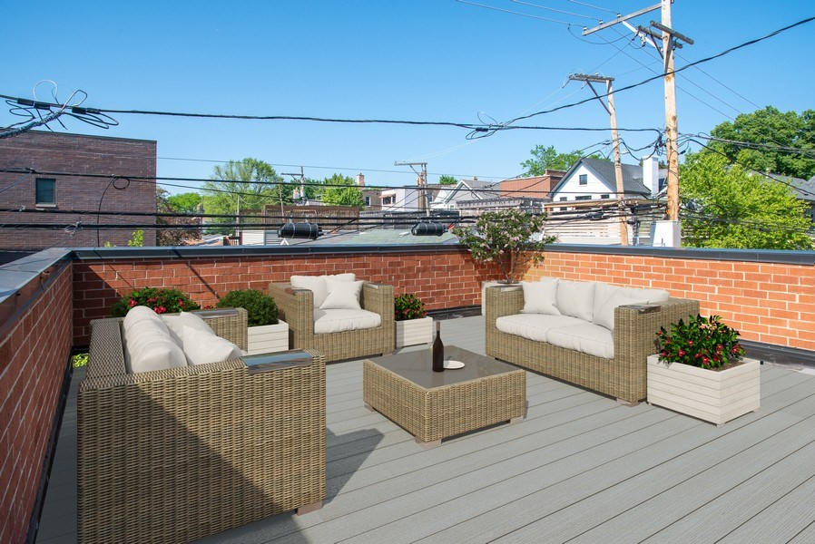 Real Estate Photography - 2250 W Roscoe, 1, Chicago, IL, 60618 - Private Roof Deck
