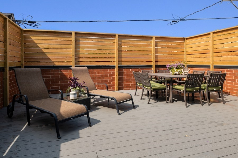 Real Estate Photography - 2250 W Roscoe, 1, Chicago, IL, 60618 - Private Garage Roof Deck