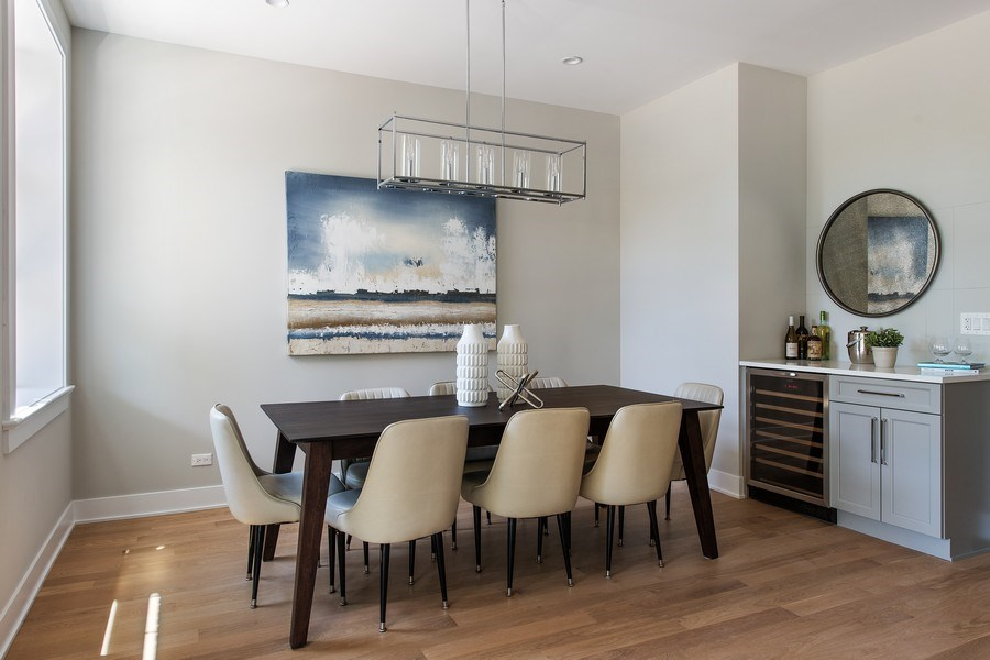 Real Estate Photography - 4432 N Western Ave, 2, Chicago, IL, 60625 - Dining Room