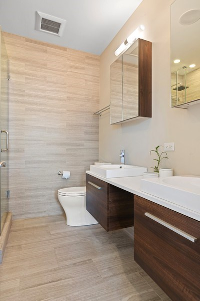 Real Estate Photography - 3816 N Ashland Ave, Unit 2N, Chicago, IL, 60613 - Master Bathroom