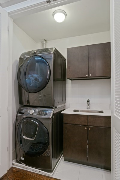 Real Estate Photography - 3816 N Ashland Ave, Unit 2N, Chicago, IL, 60613 - Laundry Room