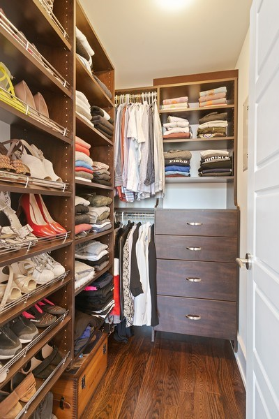 Real Estate Photography - 3816 N Ashland Ave, Unit 2N, Chicago, IL, 60613 - Master Bedroom Closet