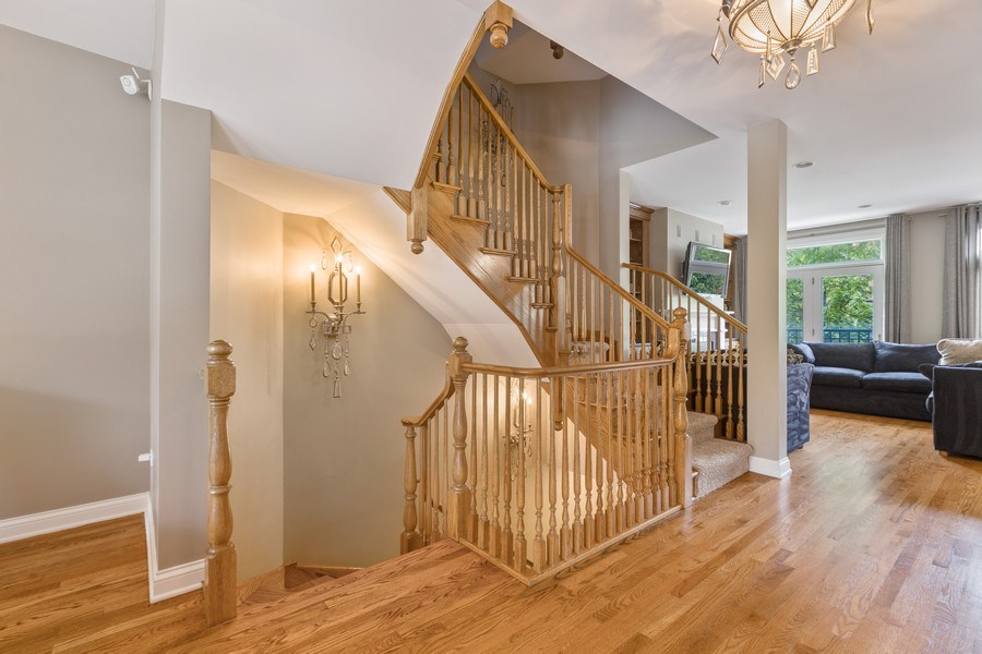 Real Estate Photography - 1890 Admiral Court, Glenview, IL, 60026 - Staircase