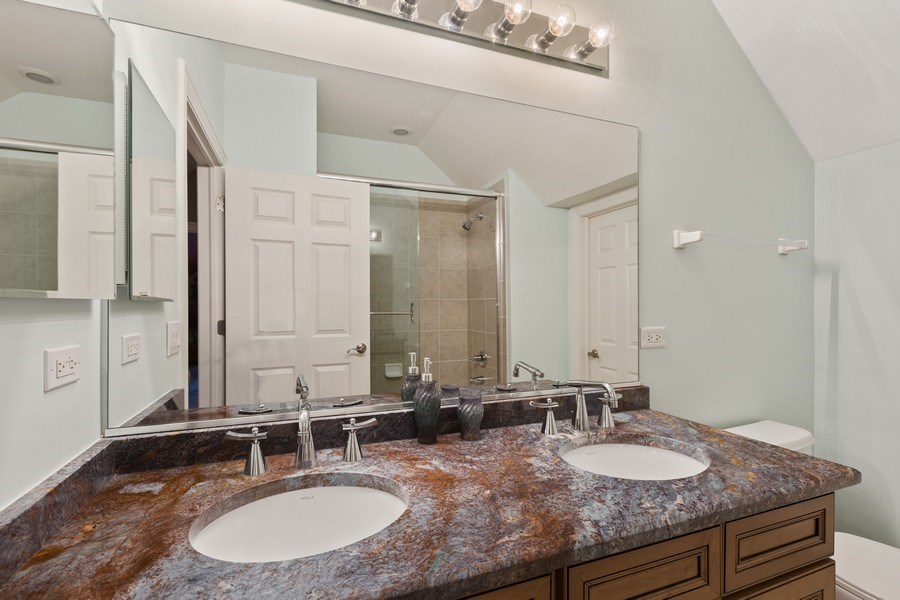 Real Estate Photography - 1890 Admiral Court, Glenview, IL, 60026 - 2nd Bathroom