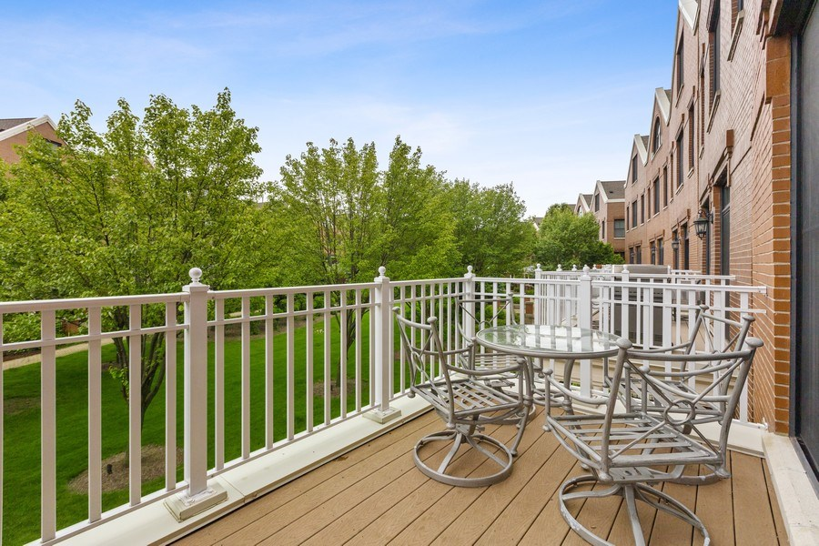 Real Estate Photography - 1890 Admiral Court, Glenview, IL, 60026 - Balcony