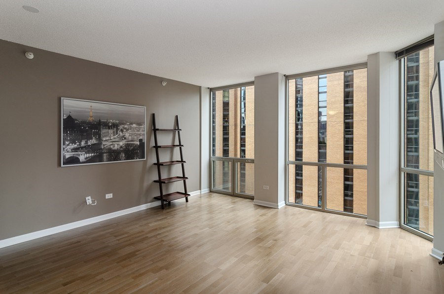 Real Estate Photography - 222 Columbus, Unit 1605, Chicago, IL, 60601 - Living Room