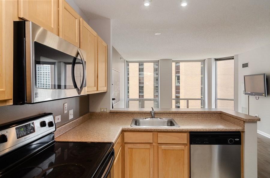 Real Estate Photography - 222 Columbus, Unit 1605, Chicago, IL, 60601 - Kitchen