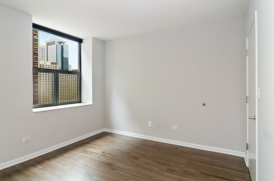 Real Estate Photography - 222 Columbus, Unit 1605, Chicago, IL, 60601 - Bedroom