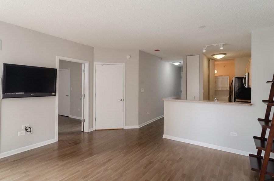 Real Estate Photography - 222 Columbus, Unit 1605, Chicago, IL, 60601 - Kitchen/Living