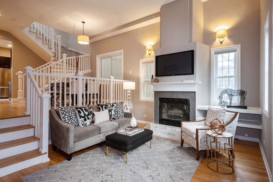 Real Estate Photography - 1708 W Wabansia, Chicago, IL, 60622 - Living Room