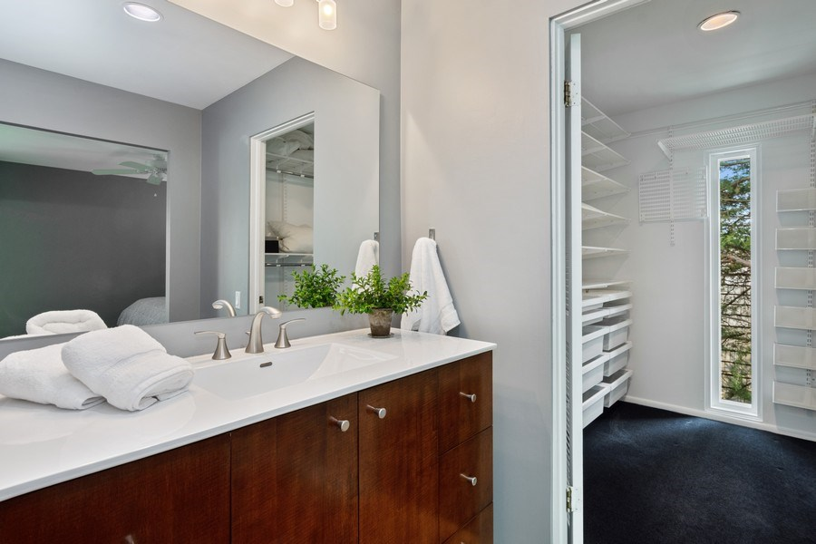 Real Estate Photography - 560 W Russell St, Barrington, IL, 60010 - Master Bedroom Vanity & Closet
