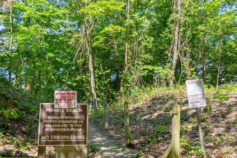 Real Estate Photography - 9475 Lakeview Dr, Bridgman, MI, 49106 - Beach path