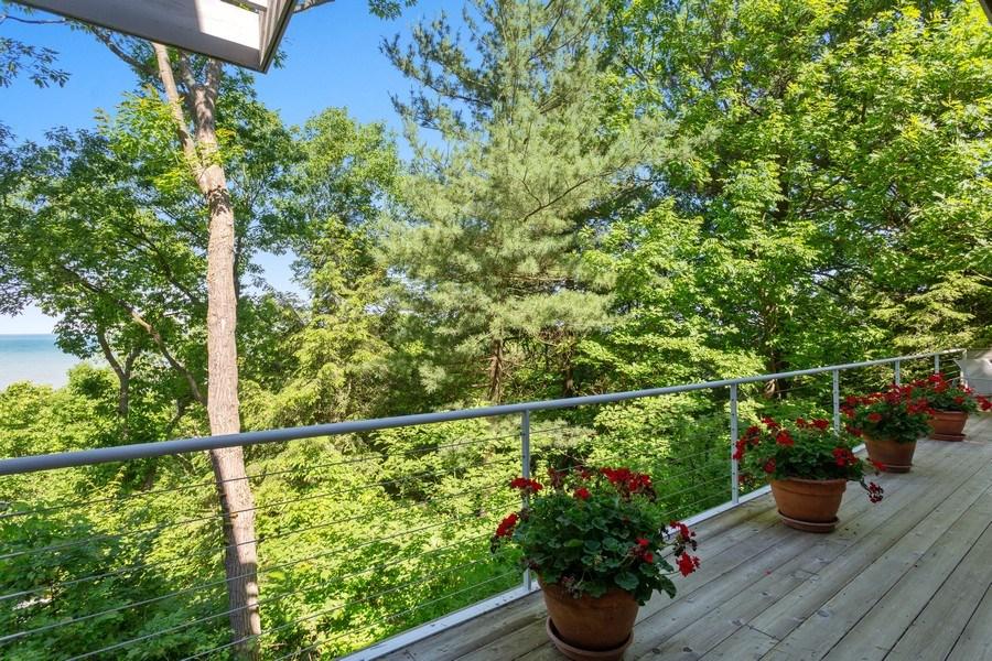 Real Estate Photography - 9475 Lakeview Dr, Bridgman, MI, 49106 - Deck off living room