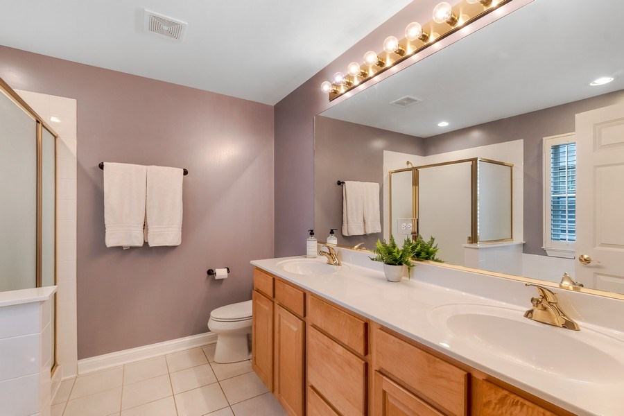 Real Estate Photography - 2548 Violet St, Glenview, IL, 60026 - Master Bathroom