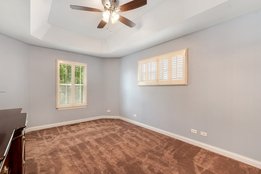 Real Estate Photography - 2548 Violet St, Glenview, IL, 60026 - Master Bedroom