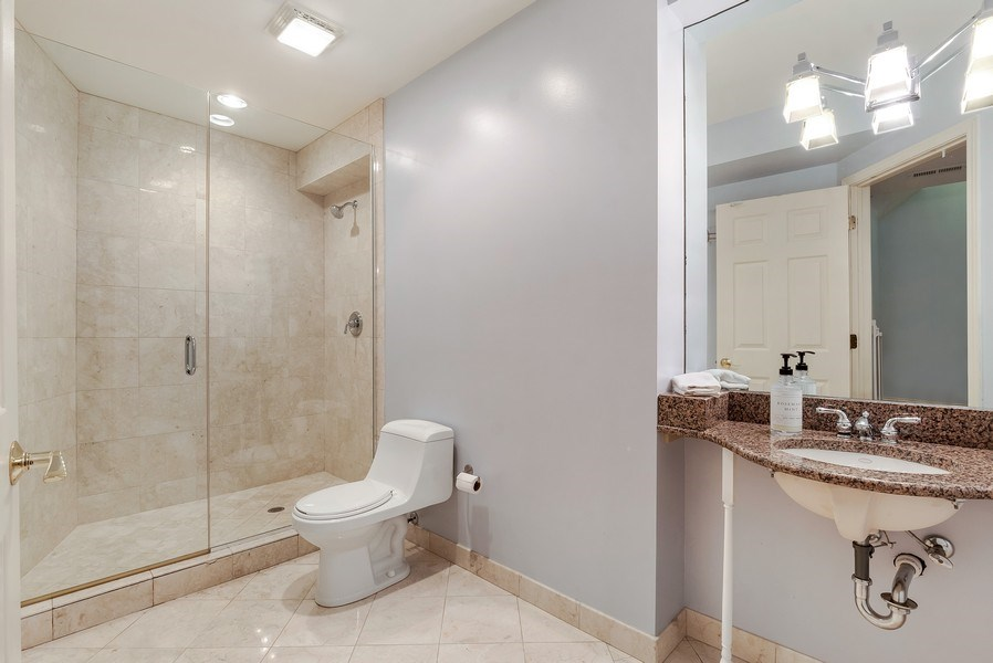 Real Estate Photography - 2548 Violet St, Glenview, IL, 60026 - 3rd Full Bath - Basement