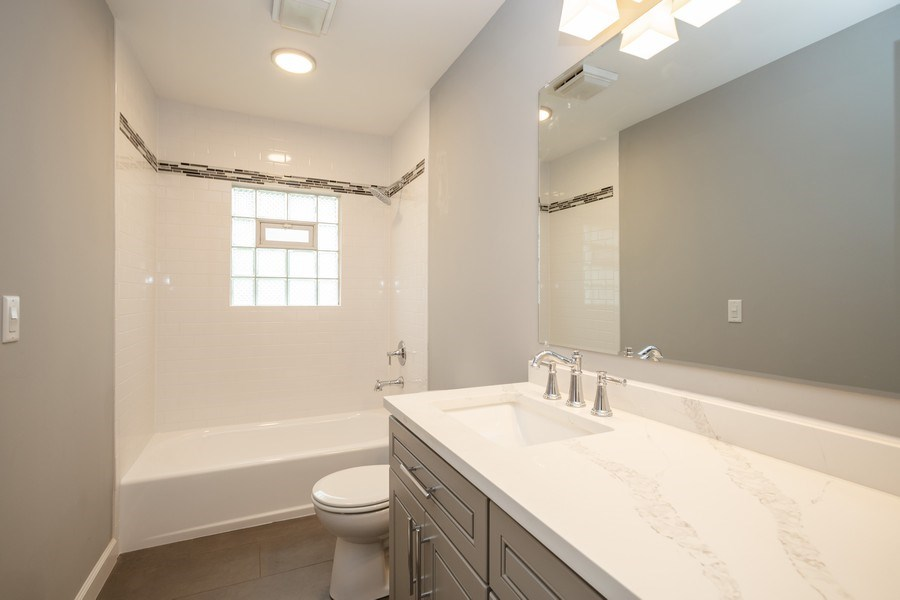 Real Estate Photography - 1133 Lancaster, Elk Grove Village, IL, 60007 - Bathroom