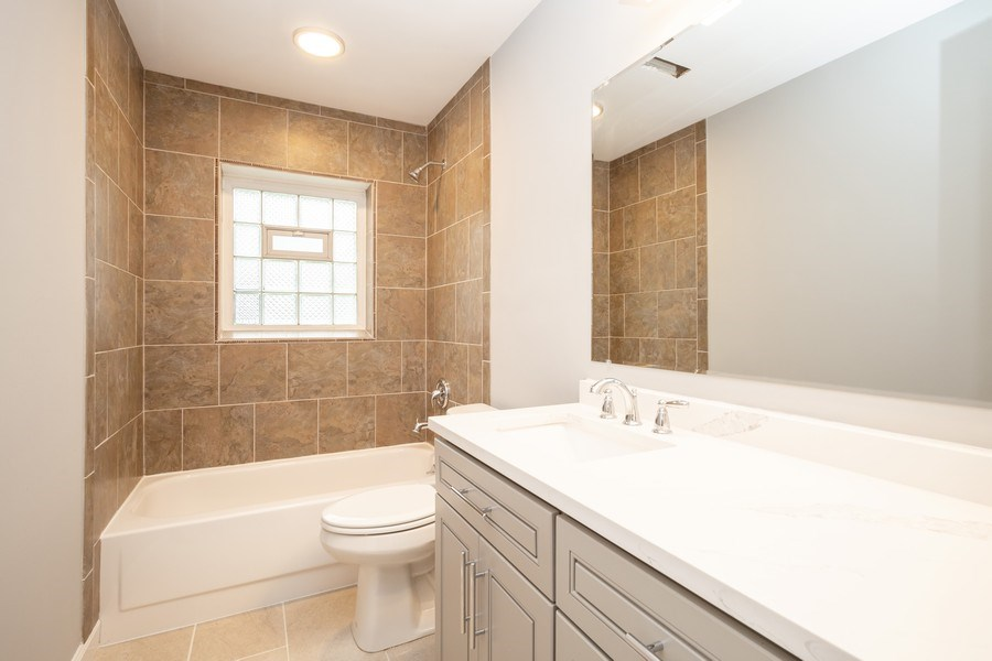 Real Estate Photography - 1133 Lancaster, Elk Grove Village, IL, 60007 - 2nd Bathroom