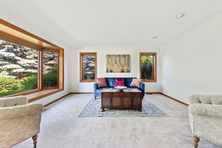 Real Estate Photography - 195 Mooregate Trail, Hawthorn Woods, IL, 60047 - Living Room