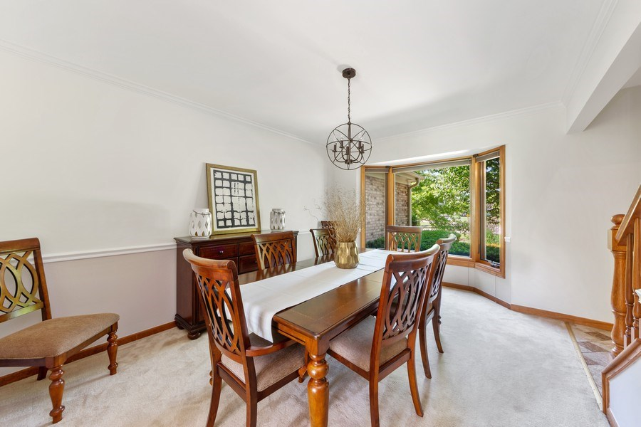 Real Estate Photography - 195 Mooregate Trail, Hawthorn Woods, IL, 60047 - Dining Room