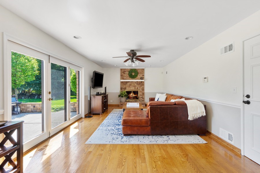Real Estate Photography - 195 Mooregate Trail, Hawthorn Woods, IL, 60047 - Family Room