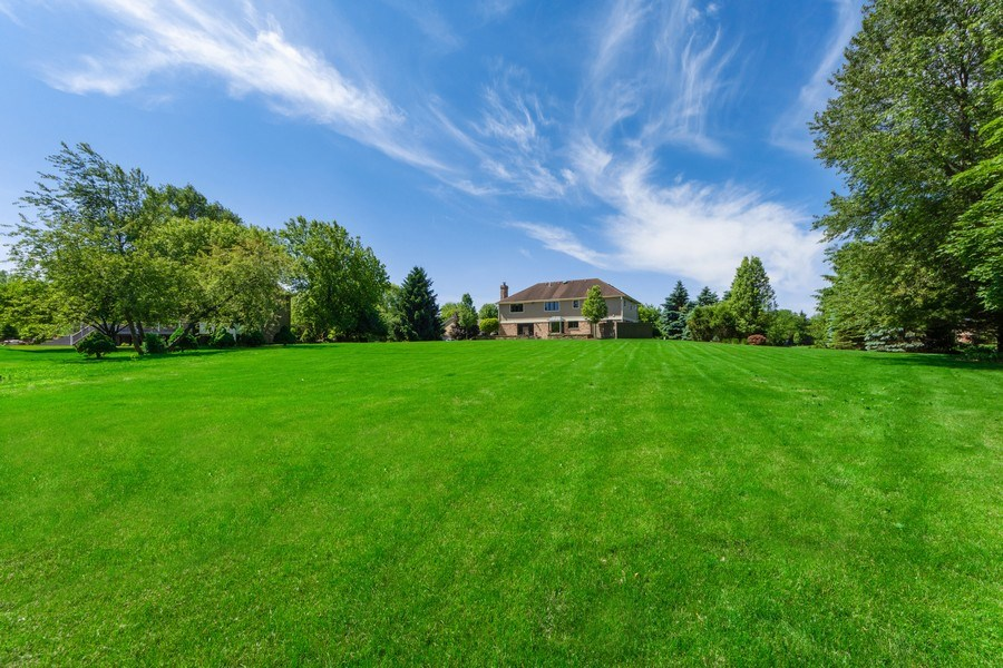 Real Estate Photography - 195 Mooregate Trail, Hawthorn Woods, IL, 60047 - Rear View