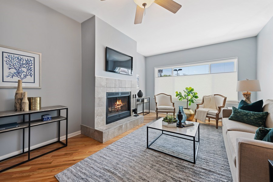 Real Estate Photography - 4747 N. Artesian Ave., Unit 1N, Chicago, IL, 60625 - Living Room