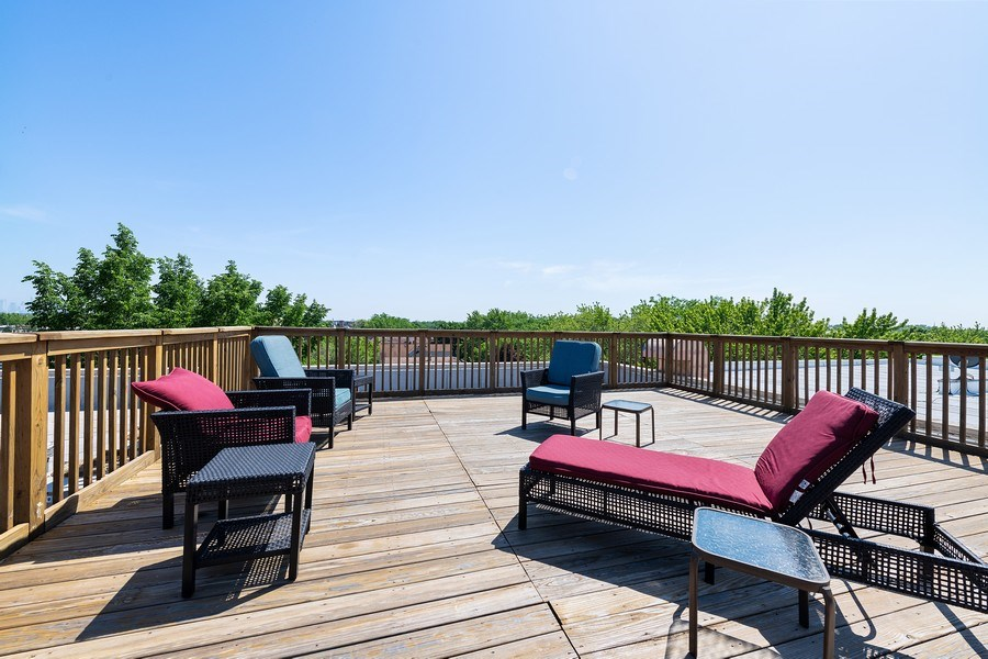 Real Estate Photography - 4747 N. Artesian Ave., Unit 1N, Chicago, IL, 60625 - Roof Deck