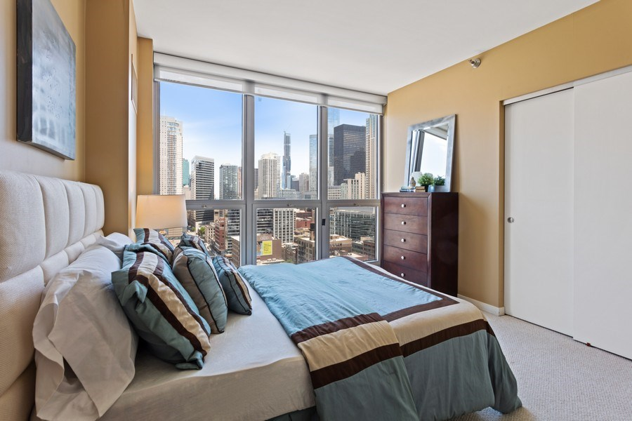 Real Estate Photography - 200 W. Grand St., 2006, Chicago, IL, 60654 - Bedroom
