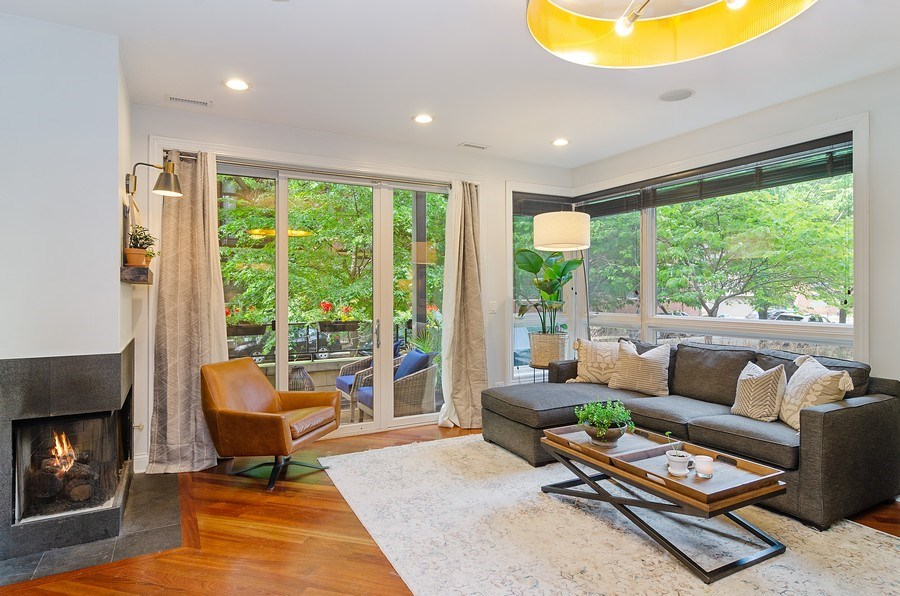 Real Estate Photography - 2241 W Wabansia Ave, Unit 101, Chicago, IL, 60647 - Living Room