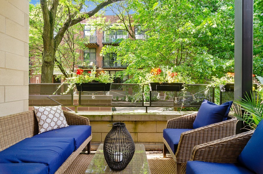 Real Estate Photography - 2241 W Wabansia Ave, Unit 101, Chicago, IL, 60647 - Terrace