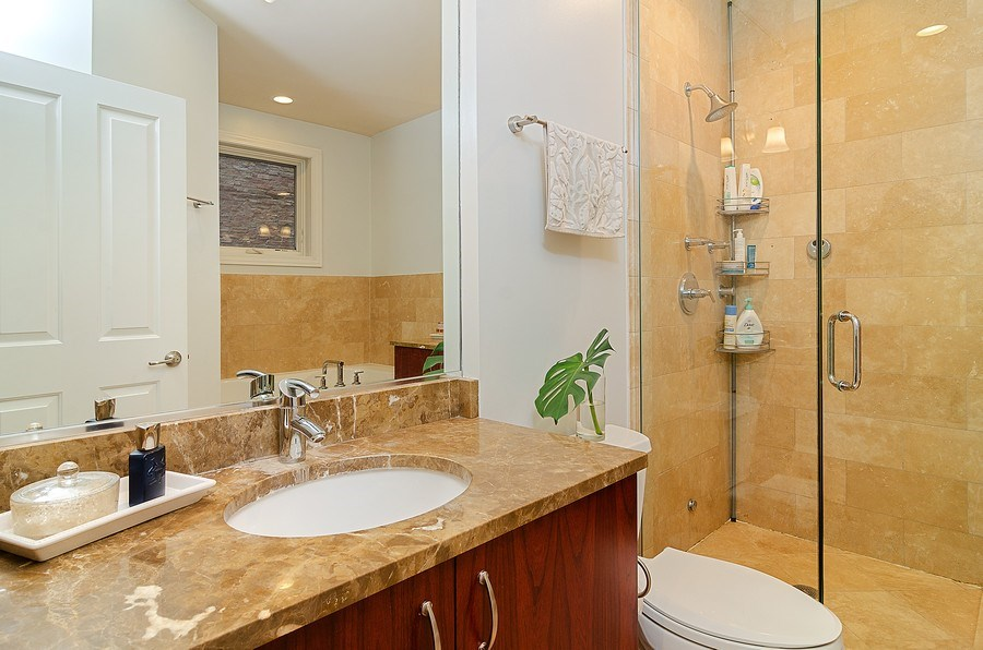 Real Estate Photography - 2241 W Wabansia Ave, Unit 101, Chicago, IL, 60647 - Master Bathroom